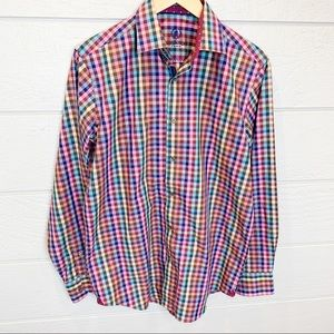 Bugatchi Uomo Classic Fit Plaid Button Up Shirt